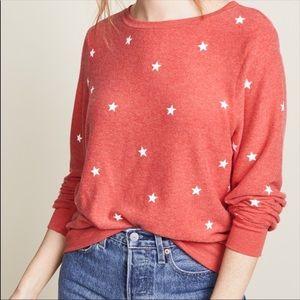 Wildfox Star print sweatshirt NWT size L